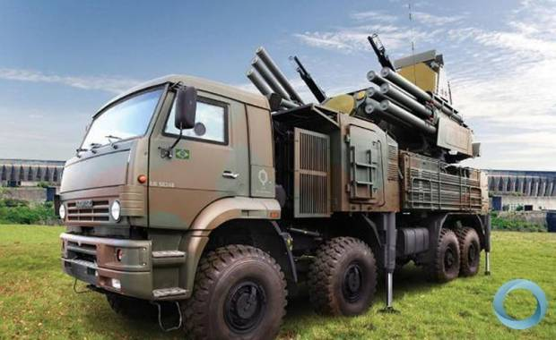 PANTSIR S1 artwork unit with Brazilian Army painting.