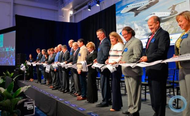 Embraer Executive Jets began the production of its Legacy 450 and Legacy 500 in Melbourne, Florida, holding a ribbon-cutting ceremony  Photo - Florida Today