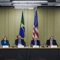 Meeting chaired by Brazilian defense Minister Raul Jungmann and US Ambassador Liliana Ayalde.