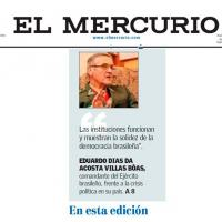 General-do-Exército Villas Boas concede entrevista ao jornal Mercurio do Chile