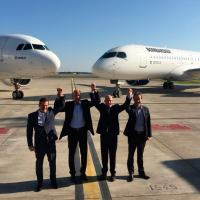 Na manhã de 17 de Outubro as diretorias do Airbus Group e Bombardier formalizam o acordo Foto - Airbus Group