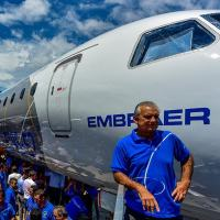 EMBRAER CEO Paulo Cesar Silva no Roll Out do E2-195 Foto Lucas Lacaz Agência X9